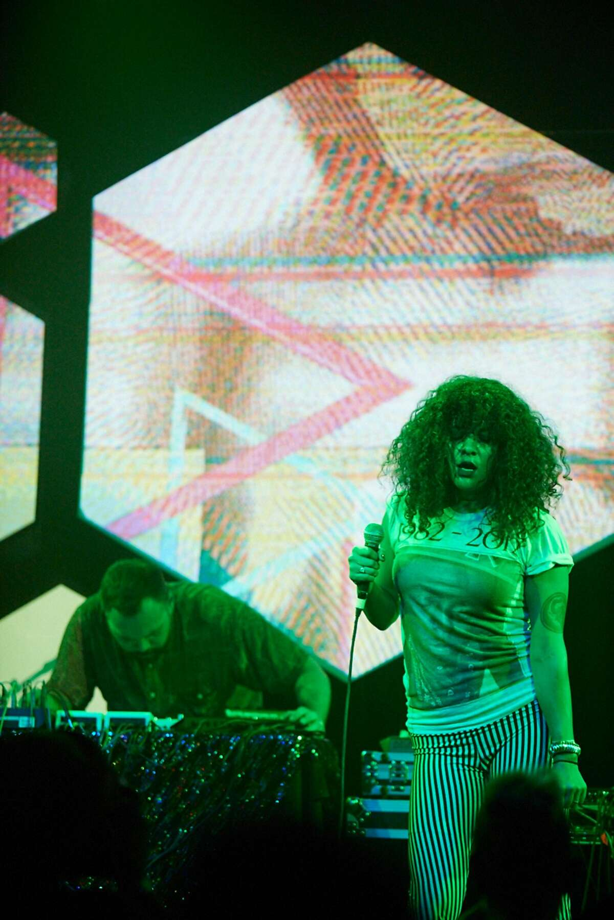 Xuxa Santamaria is one of the Bay Area musicians performing in Gary Simmons� sculptural installation