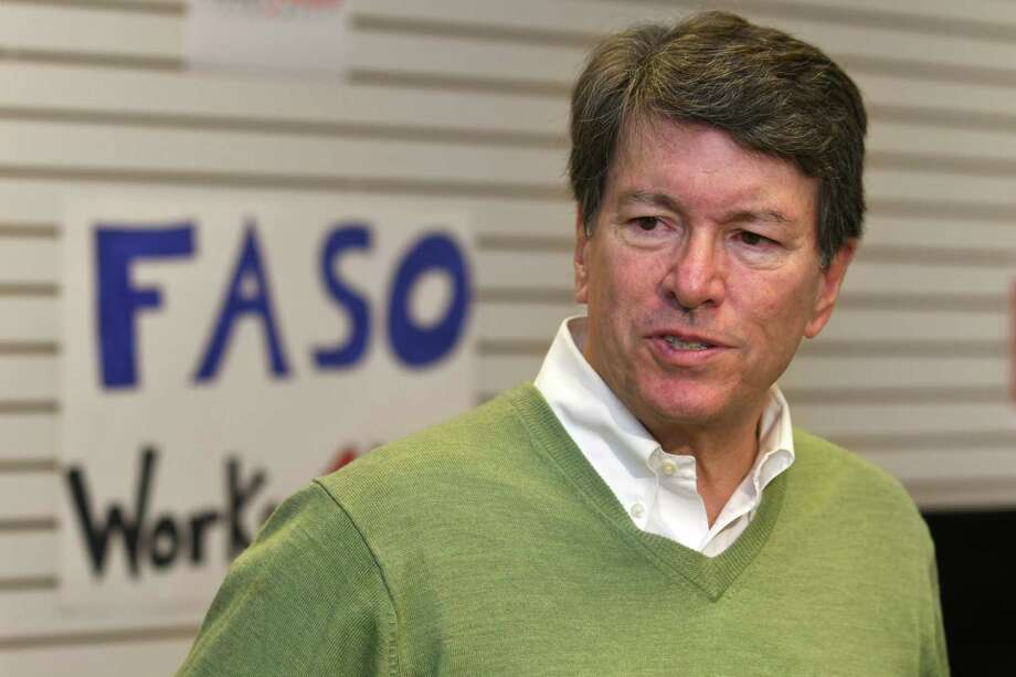 John Faso, (R-Kinderhook), who on Tuesday won the 19th Congressional District race, answers questions from the media at his headquarters on Wednesday, Nov. 9, 2016 in Hudson, N.Y. (Lori Van Buren / Times Union) Photo: Lori Van Buren / 20038741A