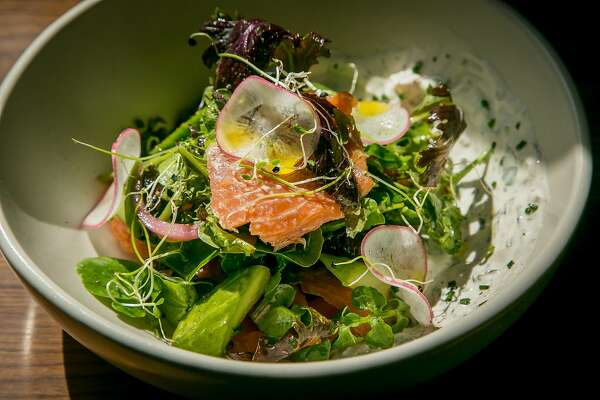 Smoked Trout salad at Nopa in San Francisco, Calif., is seen on March 27th, 2017.