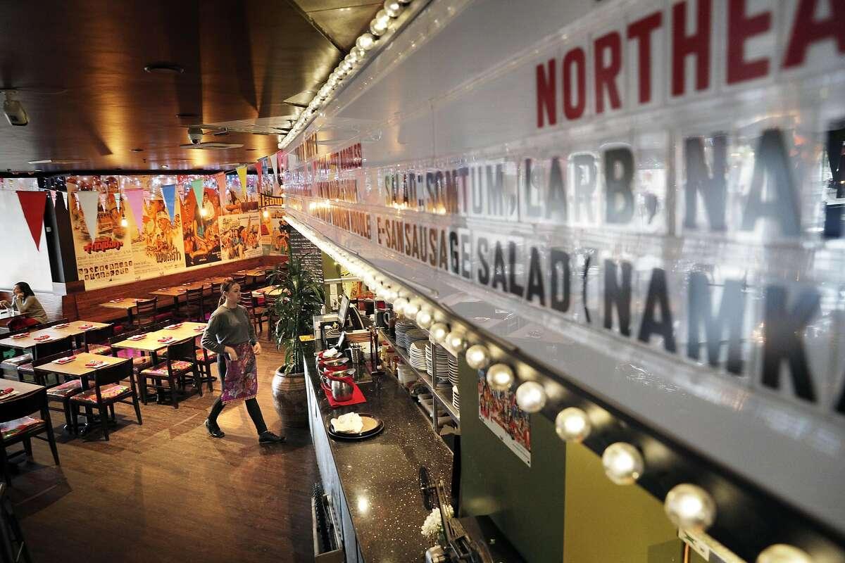 The menu is displayed on a movie marquee at Saap Ver.