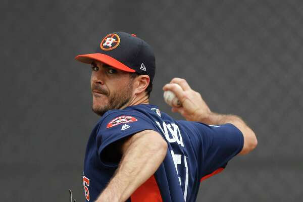 Houston Astros pitcher James Hoyt (51) during spring training at The Ballpark of the Palm Beaches, in West Palm Beach, Florida, Thursday, February 16, 2017. ( Karen Warren / Houston Chronicle )