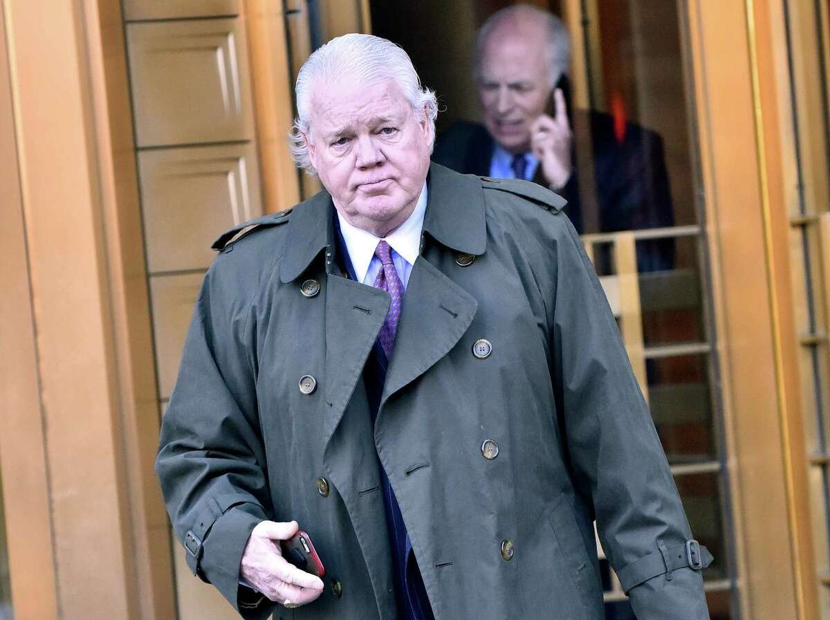 Billy Walters leaves federal court in New York last week. He's on trial on insider trading charges.
