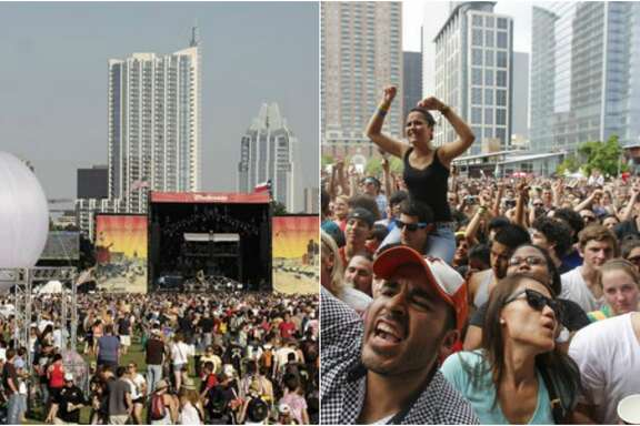 Left: Austin City Limits Music Festival. Jack Plunkett.  