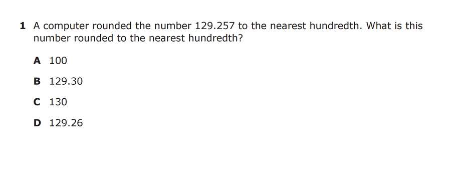 STAAR fifth grade math test (1/5) Photo: TEA
