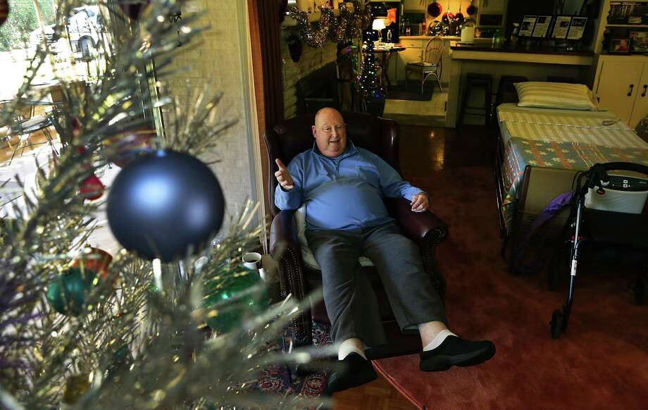 Frank Latson, the former artistic director of the San Pedro Playhouse (now The Playhouse San Antonio), died Friday after a battle with prostate cancer. After his doctors told him there was nothing else medically that could be done for him, he and his partner decided to leave up their Christmas decorations. Photo: Bob Owen /San Antonio Express-News / ©2017 San Antonio Express-News