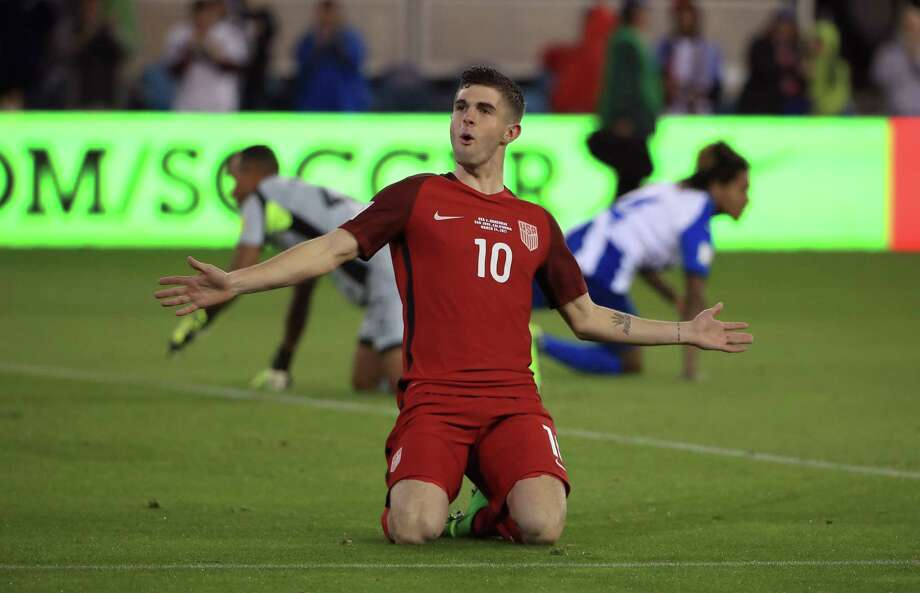 18-year old Christian Pulisic has five goals and five assists in five U.S. World Cup Qualifying games this cycle. He scored two on Thursday to lead the Americans to a 2-0 win over Trinidad & Tobago. Photo: Ezra Shaw, Getty Images / 2017 Getty Images