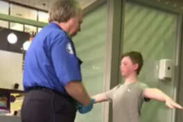 Texas mother Jennifer Williamson shared a video of her son getting a pat down by a DFW TSA agent over the weekend and it has since gone viral. 