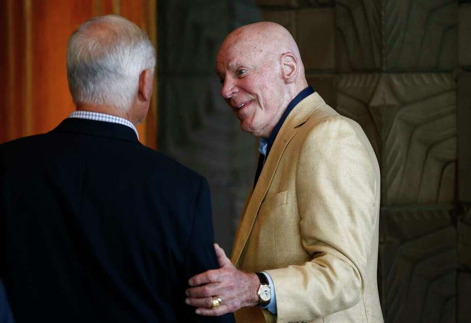 PHOTOS: What you need to know about the proposed bathroom billHouston Texans owner Bob McNair, right, talks with Cleveland Browns owner Jimmy Haslam, left, at the NFL football meetings Monday, March 27, 2017, in Phoenix. (AP Photo/Ross D. Franklin)Browse through the photos for everything you need to know about the proposed bathroom bill. Photo: Ross D. Franklin, Associated Press / Copyright 2017 The Associated Press. All rights reserved.