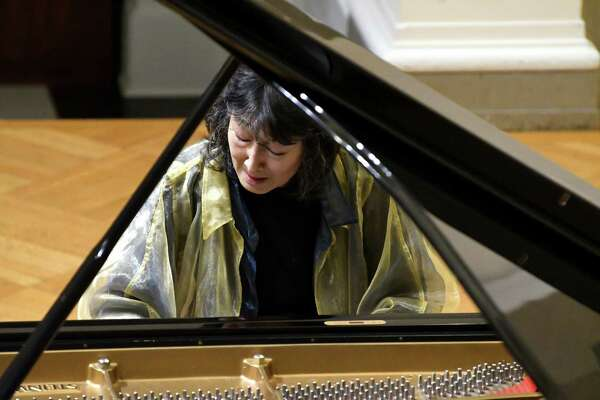 Mitsuko Uchida performs at Union College's Memorial Chapel in Schenectady on Monday night. photo credit: Michael P. Farrell