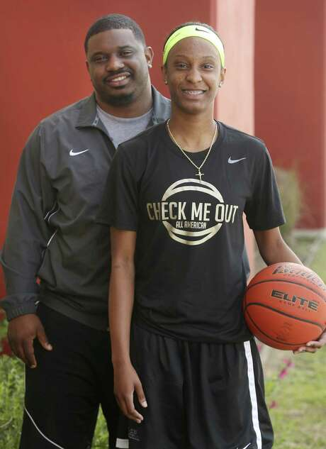 Wagner senior Kiana Williams and her half brother, Chancy Campbell, pose together on March 15, 2017. Williams, a Stanford signee, has been selected to play in the prestigious McDonald's All-American Game on March 29 in Chicago. Photo: William Luther /San Antonio Express-News / © 2017 San Antonio Express-News