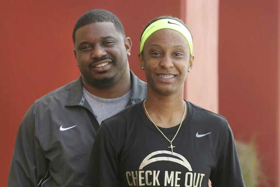 Wagner senior Kiana Williams and her half brother, Chancy Campbell, pose together on March 15, 2017. Williams, a Stanford signee, has been selected to play in the prestigious McDonald's All-American Game on March 29 in Chicago.