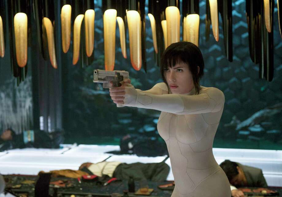 "Scarlett Johansson is a cyborg soldier with a human soul in ""Ghost in the Shell,"" based on a popular anime. Photo: Jasin Boland, Associated Press / © 2016 PARAMOUNT PICTURES.  ALL RIGHTS RESERVED."