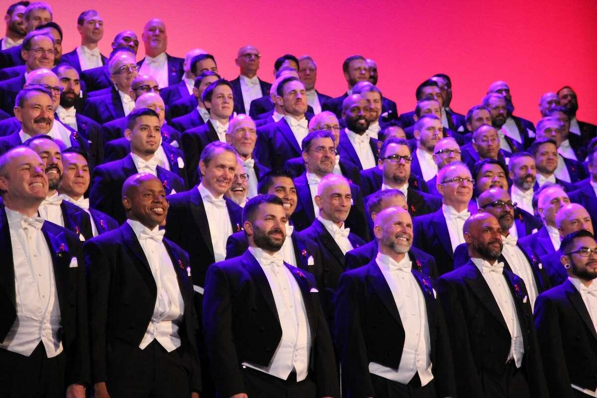 The San Francisco Gay Men's Chorus performs its