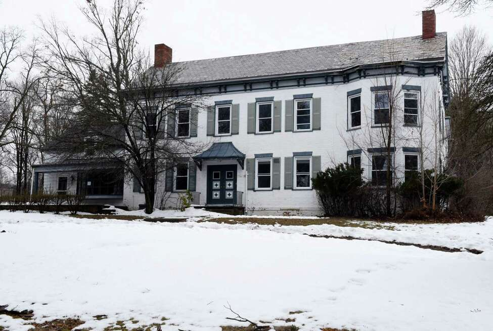 Exterior of historic Yates Mansion on Monday, March 27, 2017, in Glenville, N.Y. The town plans to vote Wednesday at their Town Board meeting to purchase the building located at 133 Maple Ave. (Will Waldron/Times Union)