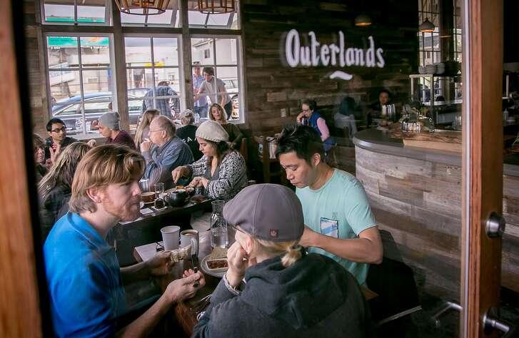 Diners have brunch at Outerlands in San Francisco, Calif. on November 29th, 2014.