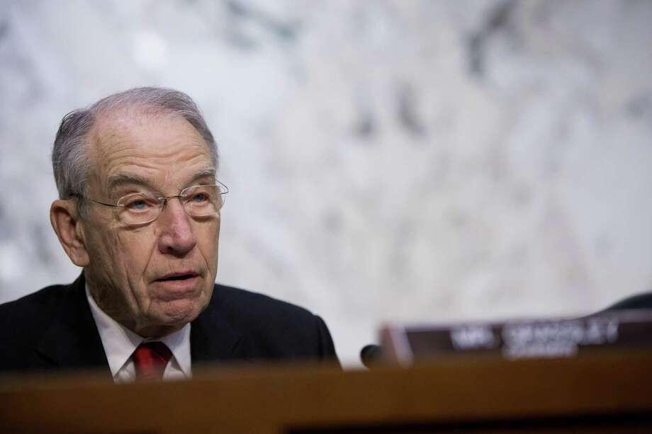 FILE - Senator Chuck Grassley, R-Iowa Photo: Eric Thayer /New York Times / NYTNS