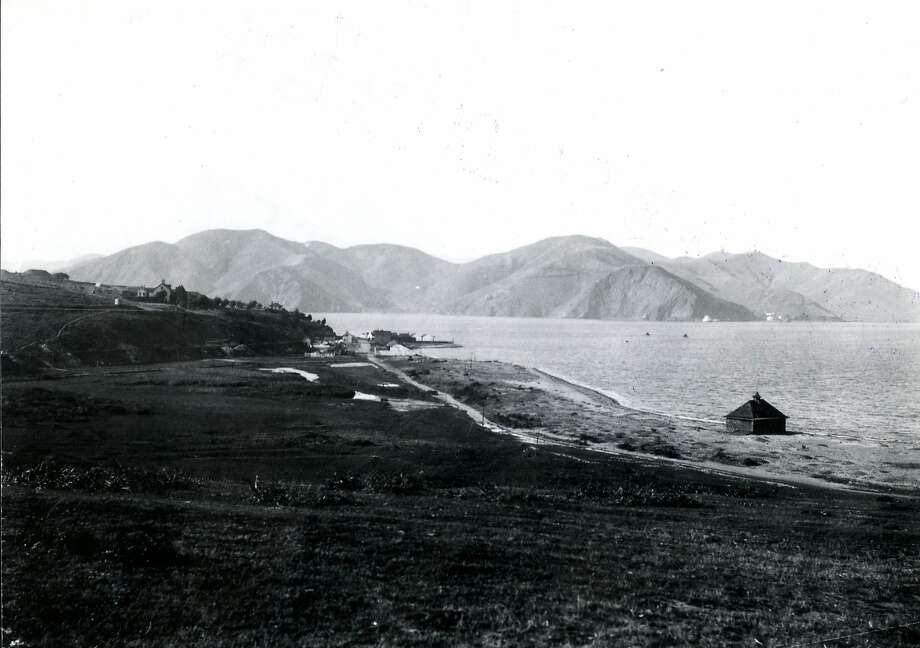Looking toward the Golden Gate, decades before the bridge was built, from The Presidio of San Francisco ca. 1880's. Photo: Wyland Stanley Collection
