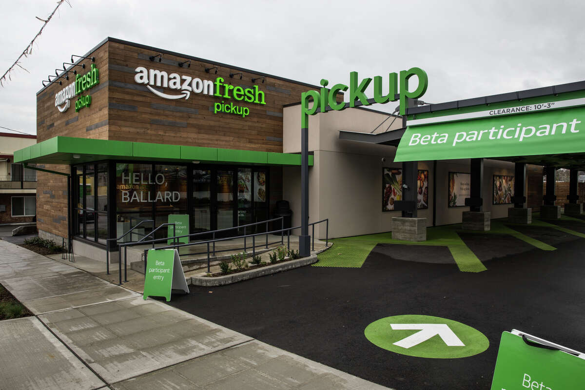 Ballard's new AmazonFresh Pickup location on 15th Ave NW and NW 52nd St. on Tuesday, March 28, 2017. Though there has been speculation, Amazon officially announced the grocery service on Tuesday.