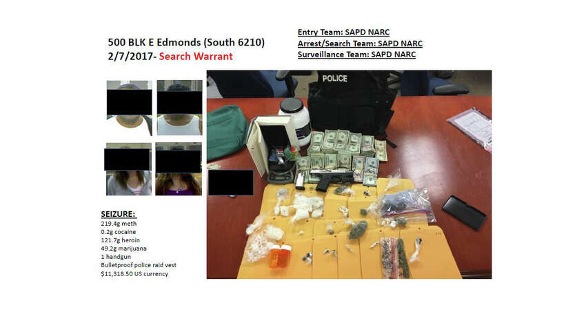 Since January 2017, the Violent Crimes Task Force of the SAPD has seized a number of drugs, money and stolen vehicles.Click ahead to photos from some of their largest busts.