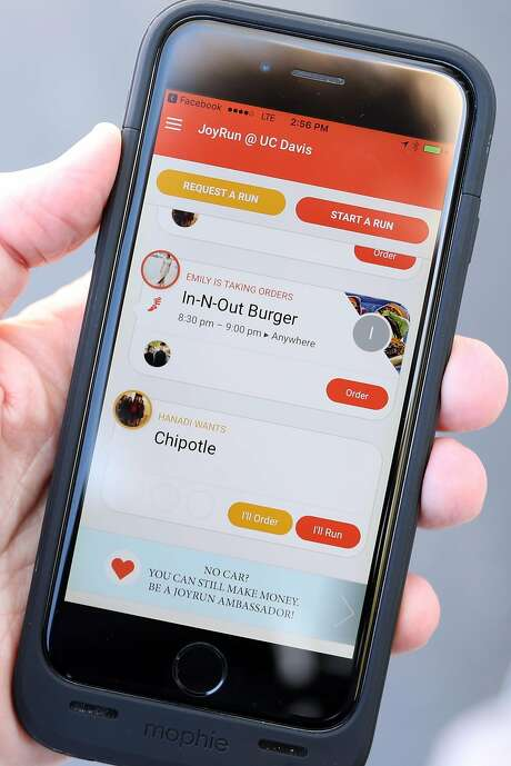 JoyRun is trying to link food delivery to social networks. Photo: Scott Strazzante, The Chronicle