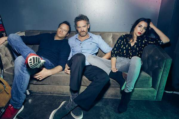 Hugh Davidson, center, is one of the three leads of new Melissa McCarthy-produced comedy, 'The Nobodies,' on TV Land