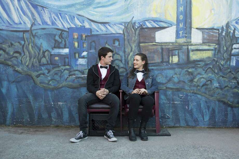 Dylan Minnette and Katherine Langford play high school friends and co-workers. Photo: Beth Dubber/Netflix / Beth Dubber / Netflix