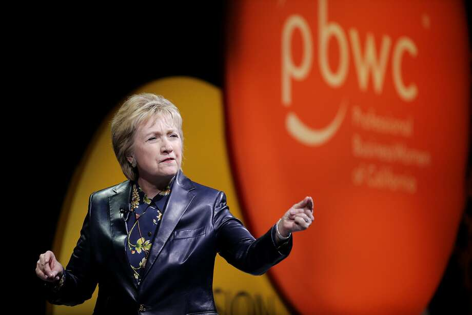 Hillary Clinton during the closing keynote for the 28th annual Professional BusinessWomen of California at the Moscone West on Tuesday, March 28, 2017, in San Francisco, Calif. Photo: Santiago Mejia, The Chronicle
