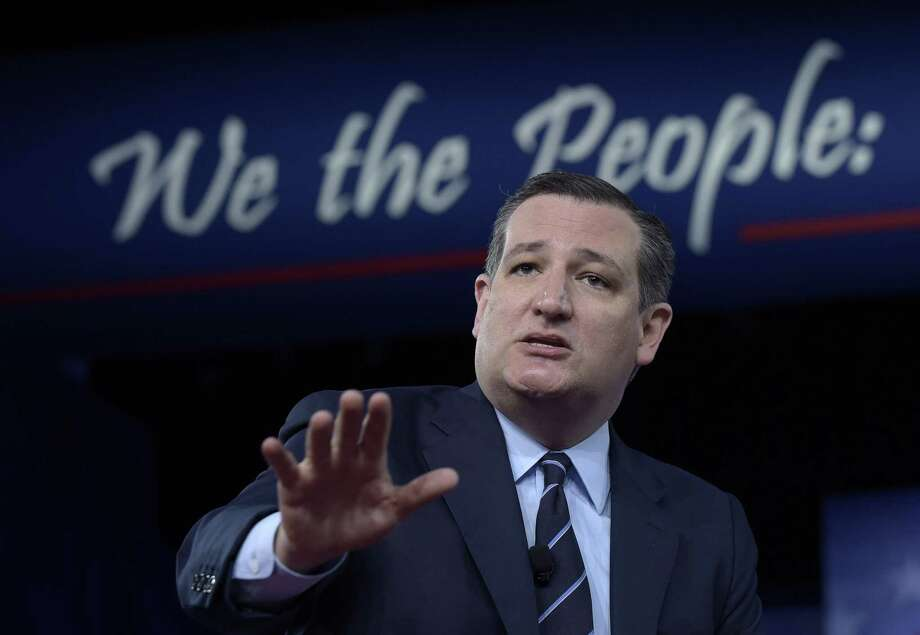 Sen. Ted Cruz, R-Texas speaks at the Conservative Political Action Conference (CPAC) in Oxon Hill, Md., Thursday, Feb. 23, 2017. (AP Photo/Susan Walsh) Photo: Susan Walsh, STF / Associated Press / Copyright 2017 The Associated Press. All rights reserved.