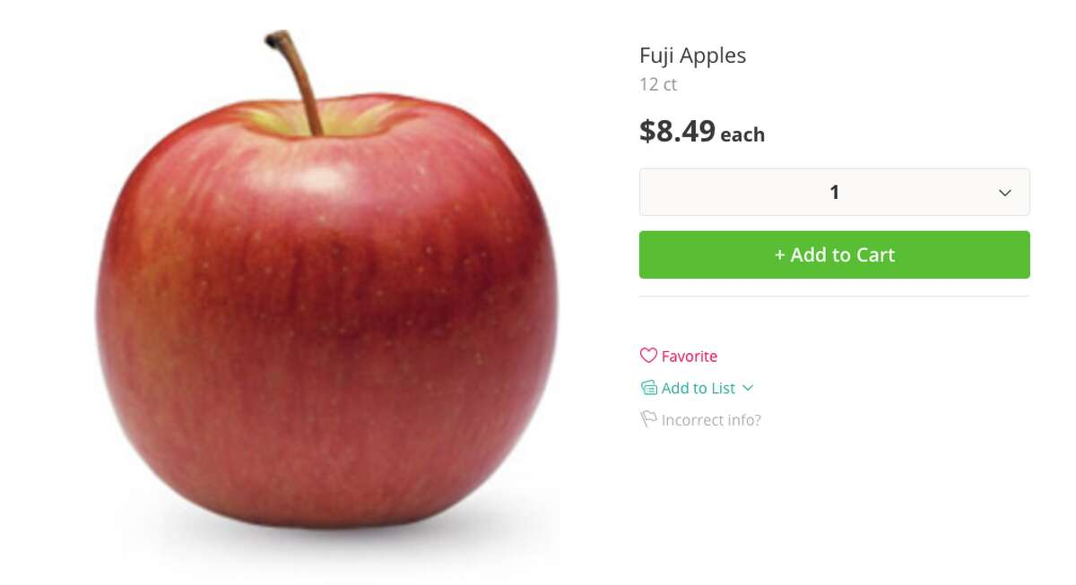 Costco Fuji apples: $8.49 for 12-count haul (about 70 cents per apple)