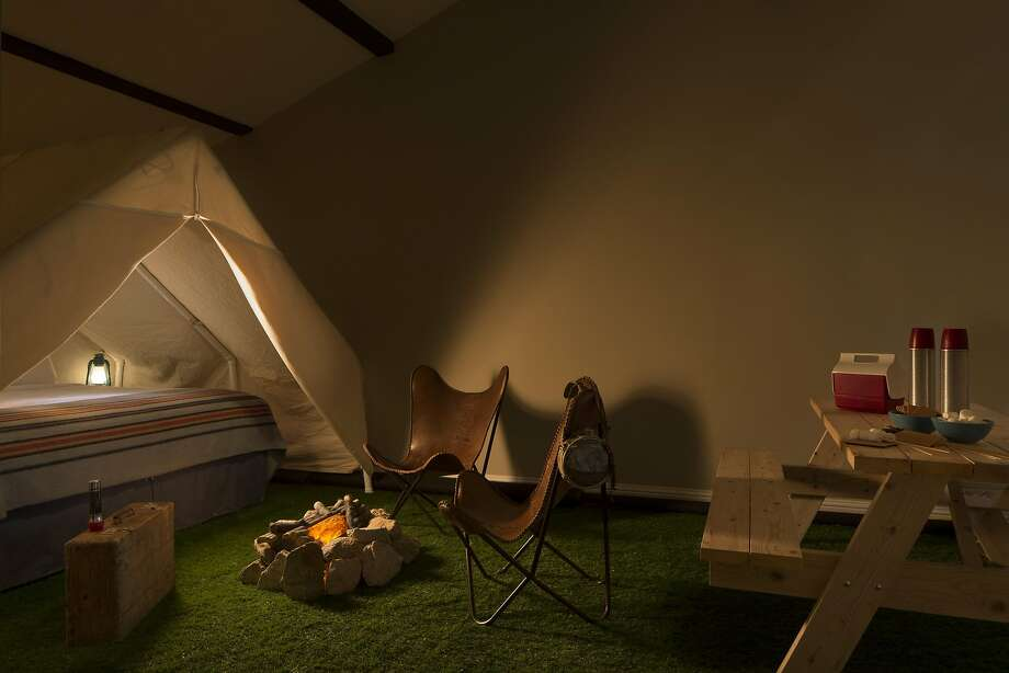 "One of the ""Great Indoors"" rooms at the Basecamp Hotel. Photo: Paul Dyer, Basecamp Hotel"