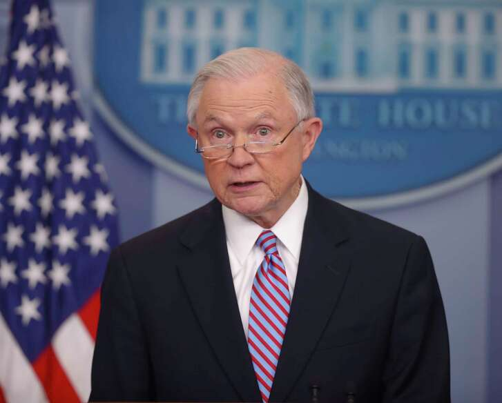 Attorney General Jeff Sessions speaks to the media during the daily briefing in the Brady Press Briefing Room of the White House in Washington. The Trump administration issued a fresh threat to withhold or revoke law enforcement grant money from communities that refuse to cooperate with federal efforts to find and deport immigrants in the country illegally.  (AP Photo/Pablo Martinez Monsivais, File)