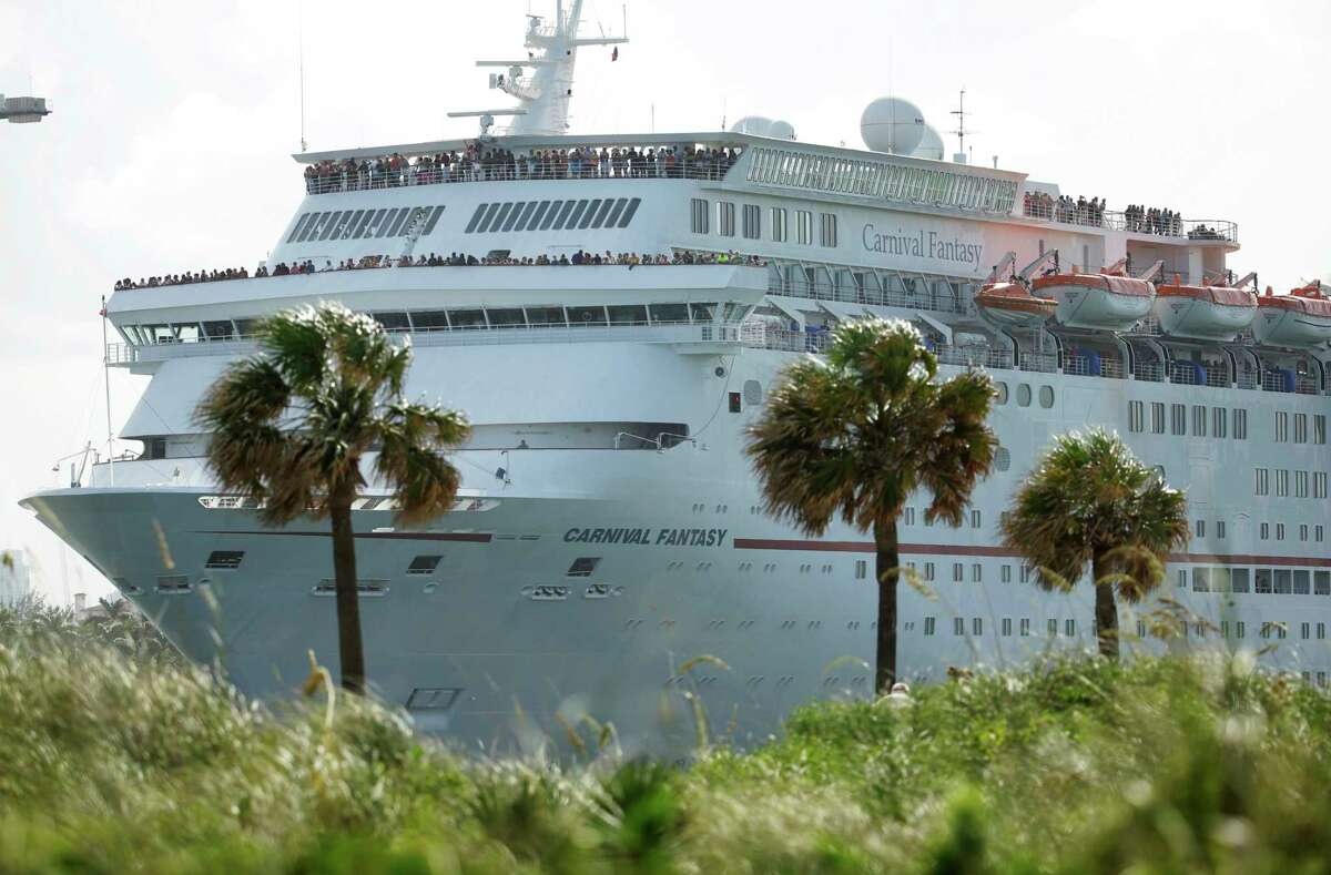 FILE - In this Monday, June 20, 2016, file photo, the Carnival Fantasy cruise ship leaves PortMiami, in Miami Beach, Fla. Carnival Corporation reports earnings Tuesday, March 28, 2017.