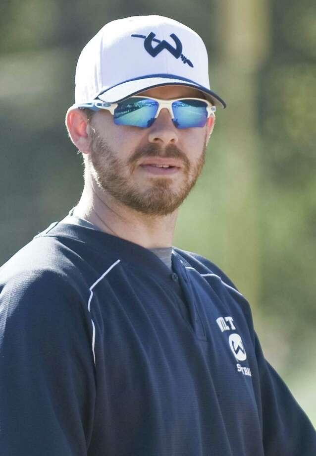 Wilton High School softball Head Coach Brian Jacobs. Wednesday, April 20, 2016 Photo: Scott Mullin / For The / The News-Times Freelance
