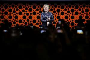 Hillary Clinton during the closing keynote for the 28th annual Professional BusinessWomen of California at the Moscone West on Tuesday, March 28, 2017, in San Francisco, Calif.