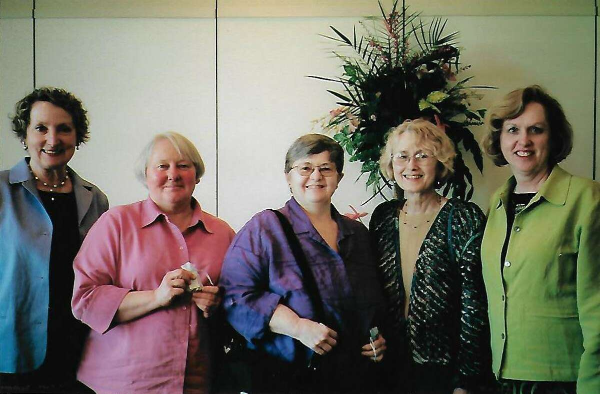 Linda Witkowski, second from right, with other members of her longtime book club. (Provided photo)