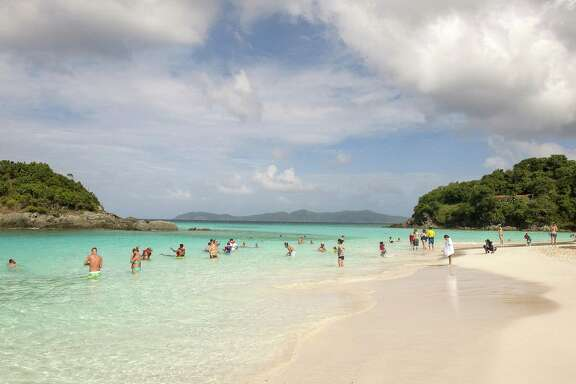 Trunk Bay is a popular beach on the north shore of St. John, Virgin Islands, St. John unfurls itself in unexpected ways if you just give it time. The key to discovering its sometimes hidden delights: slow down.