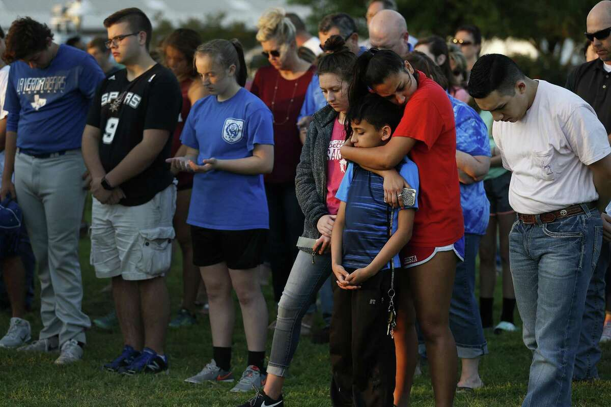 The community of La Vernia attend a spiritual service on March 28, 2017 in the wake of recent events which resulted in arrests of students hazing other students in a horrific manner. The La Vernia Ministerial Alliance and La Vernia News hosted and invited community members to join in prayer and music at the La Vernia City Park.