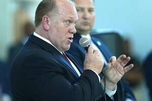 Acting ICE Director Thomas Homan answers a question at a public forum in Sacramento, Calif., on Tuesday, March 28, 2017.
