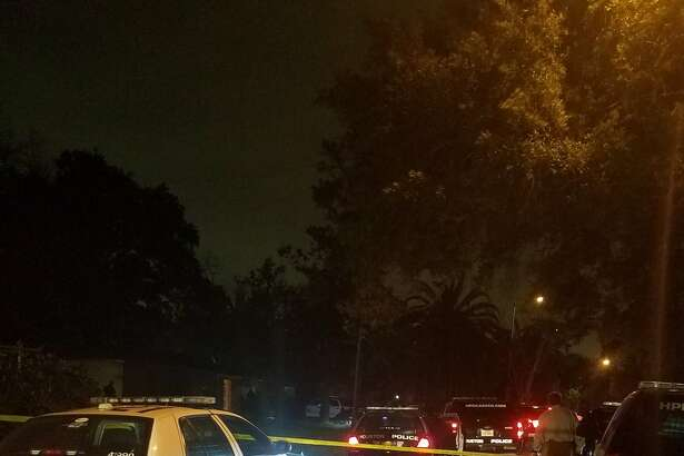Police responded to the scene after a suspect barricaded himself in an attic.