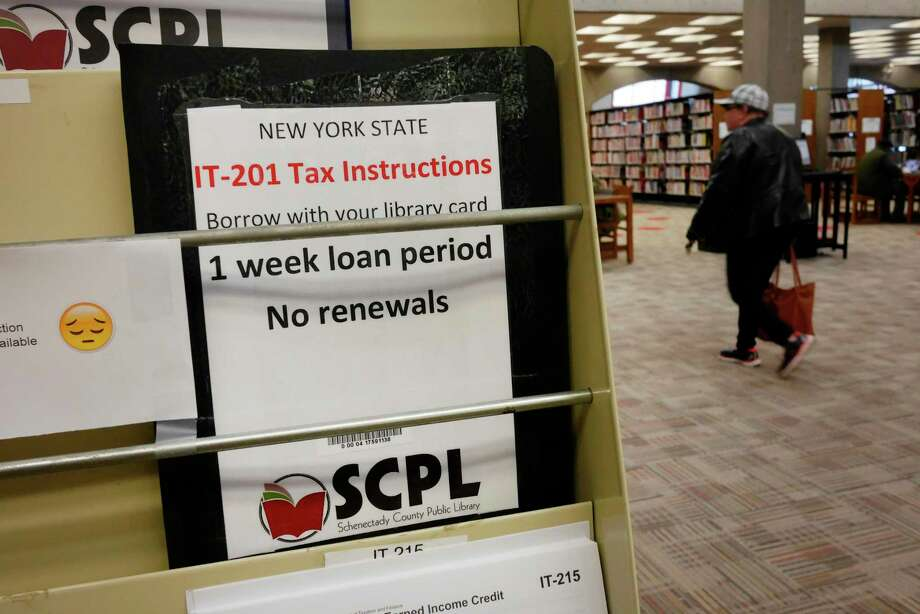 Libraries Cope With Shortfalls Of Income Tax Books Times Union
