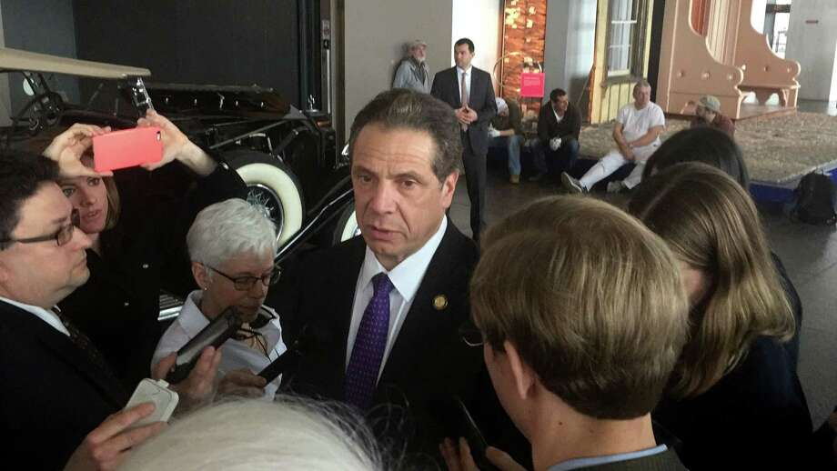Gov. Andrew Cuomo holds a media availability on Tuesday, March 28, 2017, at the State Museum in Albany, N.Y. (Casey Seiler/Times Union) Photo: Casey Seiler