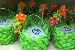 Houston's Blue Bird Circle volunteers have hand decorated Easter eggs and baskets since 1923. Each basket costs $10 and eggs are $6 for six; they are available at Berings Hardware and the Texas Children's Hospital Gift Shop.