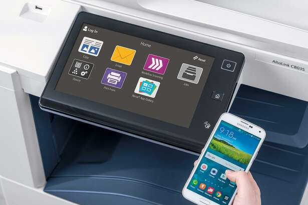 The new Xerox AltaLink C8035 printer introduced Wednesday, March 29, 2017, featuring device interfaces that are customizable to provide only the apps used most - including specific one-touch workflows to or from cloud or network locations.