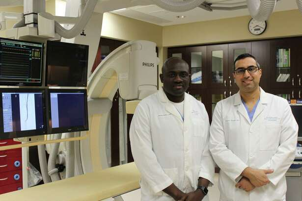 Dr. Mo Odelowo on the left and Dr. Zagum Bhatti are two doctors at Endovascular and Interventional Associates.