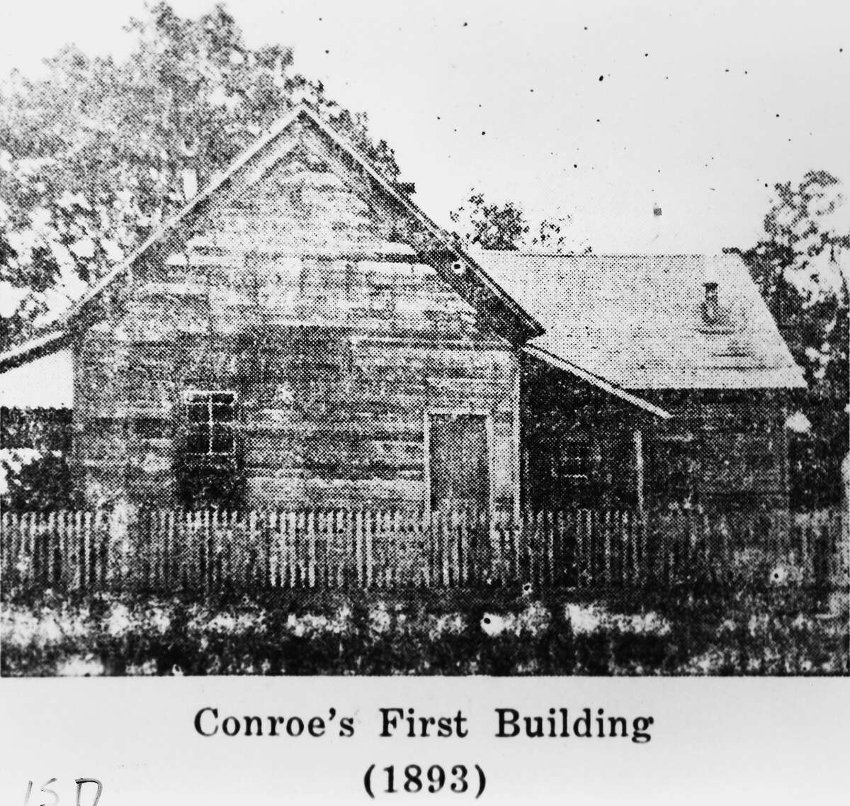 Conroe's first school building, Conroe Mill School, near the Beach community circa 1893. Mrs. J.A. Knight was the school's first teacher. The district is celebrating 125 years and throughout the year photos from the district will be shared.
