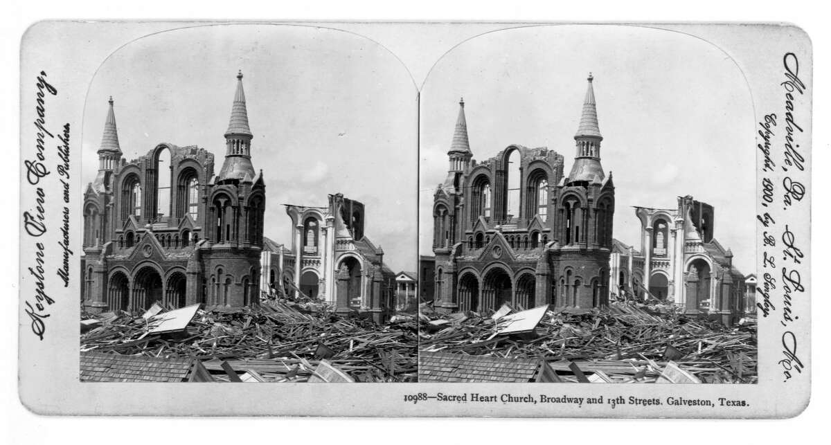 PHOTOS: The 1900 hurricane that ravaged Galveston Ruins of the Sacred Heart Church in Galveston, destroyed by a hurricane in 1900. See more photos from this destructive storm...
