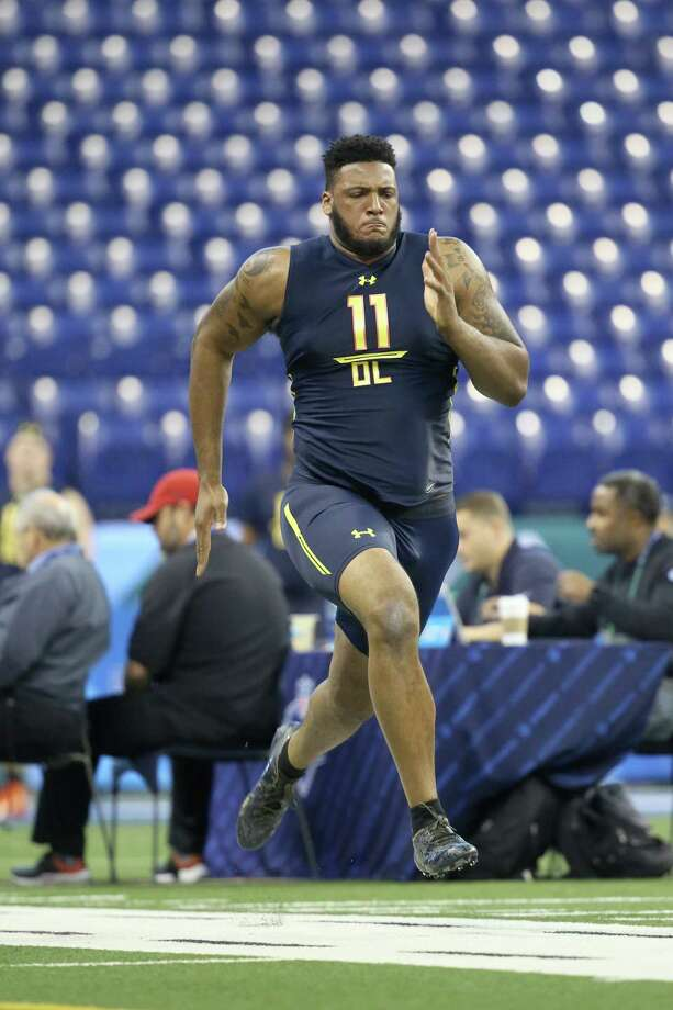 The Texans picked Bucknell offensive tackle Julie'N Davenport in the fourth round. He was the 130rd overall pick in the 2017 NFL draft. Photo: Gregory Payan, Associated Press / AP