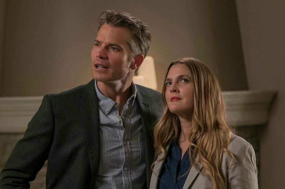 """Actors Timothy Olyphant and Drew Barrymore of the Netflix show """"Santa Clarita Diet"""" helped out with a proposal for a couple in a clip released Monday. Keep clicking through the slideshow to see the most binge-watched shows on Netflix for 2017."""