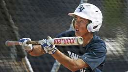 Smithson Valley junior Toshiki Ishizaki, a foreign-exchange student from Japan who has earned a spot as the Rangers' starting third baseman and two-hole hitter, goes through bunting practice on March 23, 2017.