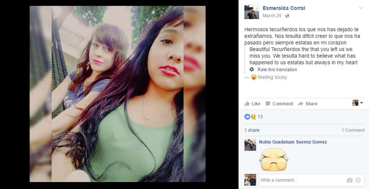 Esmeralda Corral posted a photo to Facebook March 26, 2017 in honor of Nitzia Mendoza.
